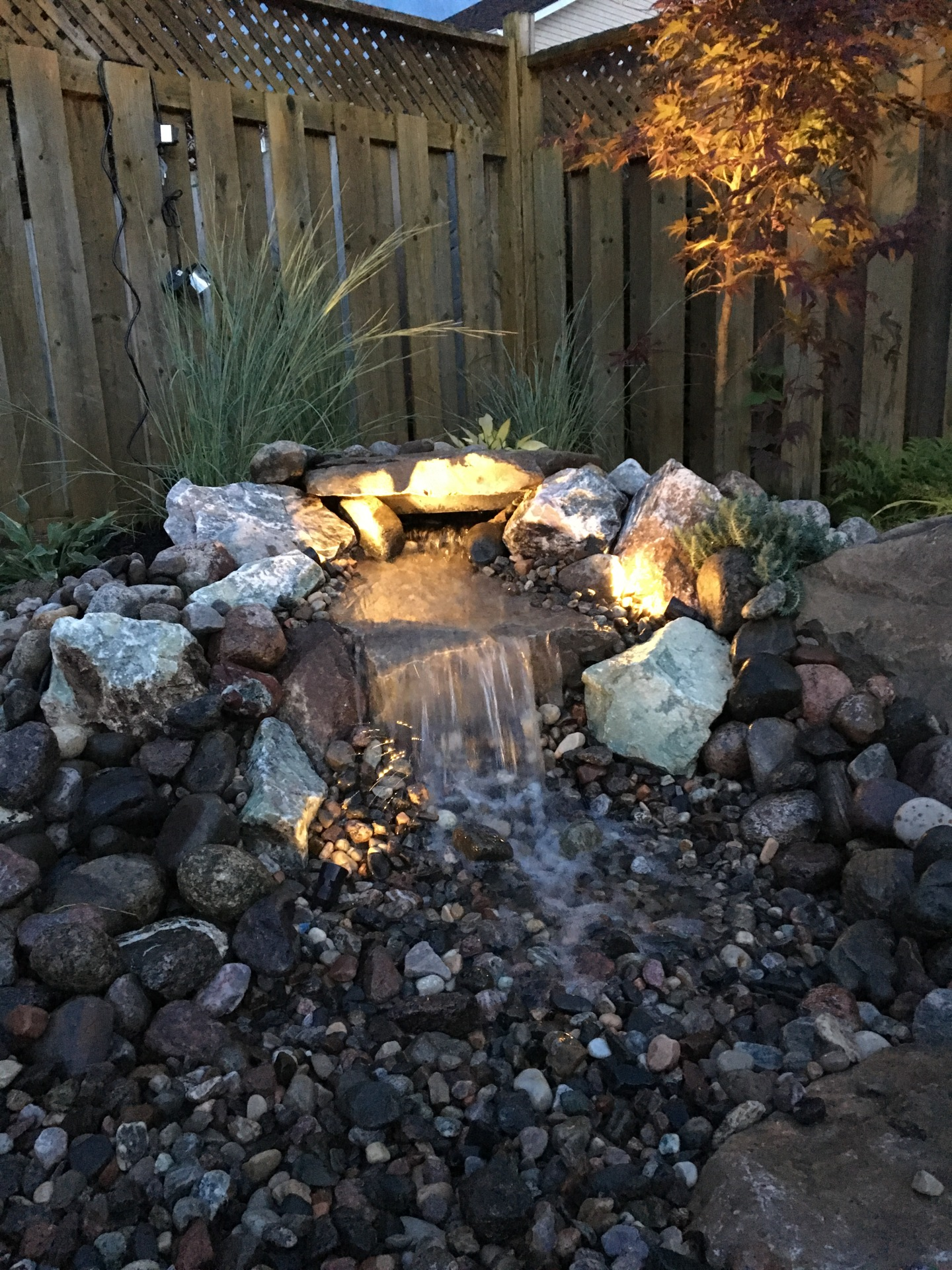Pond and Waterfall Lighting