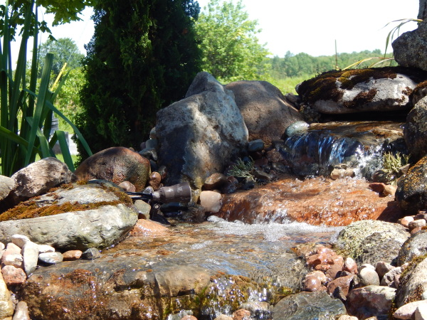 Pondless Waterfall in Stirling, Ontario