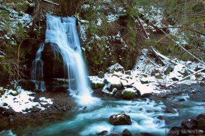 Steep Creek Falls,  Columbia Rive Gorge, Washington
