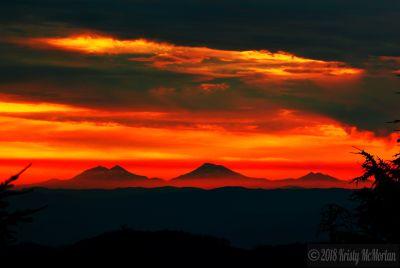 Three Sister's, Fairview Peak Watchtower, Oregon