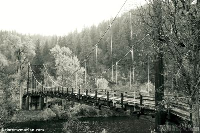 Klamath River bridge, near Happy Camp, California