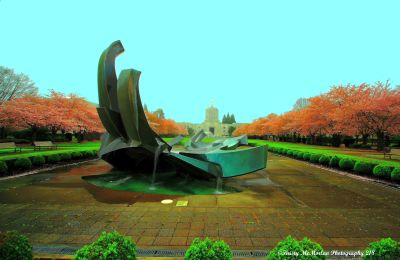 Oregon State Capital Water Feature
