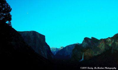 Dusk at Yosemite National Park