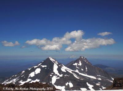 Middle and North Sister Seen From South Sister