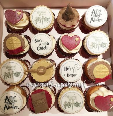 Harry Potter Birthday Cupcakes, sparkle cupcakes leeds, cakes leeds, birthday cakes leeds, cake makers leeds, leeds,