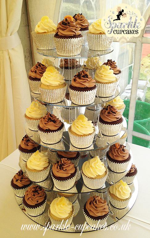 Corporate Cupcake Tower with Lemon and Chocolate Orange Cupcakes