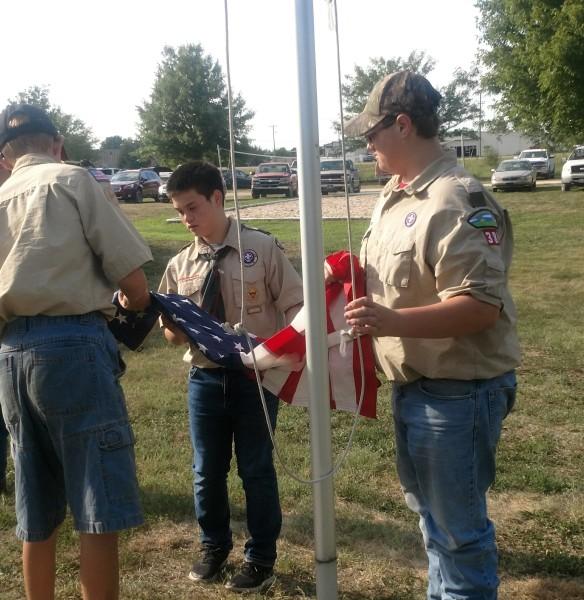 Boy Scout Flag Raising