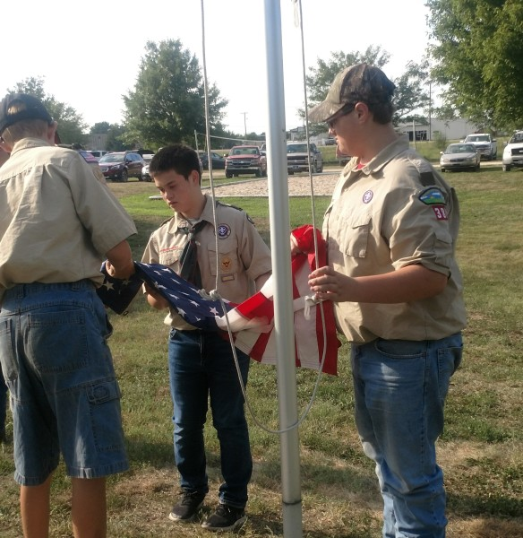 Boy Scout Flag Raising