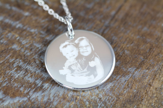 Custom Engraved Picture Pendant Necklace