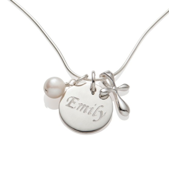 Custom Engraved Baptism Necklace