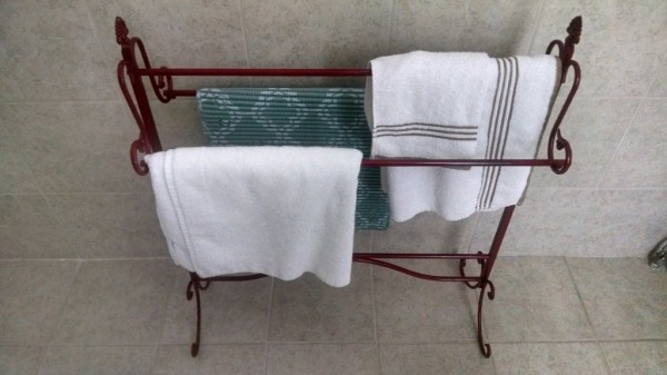 Pecan bathroom