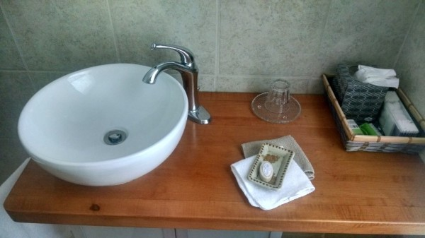 Vanity Pecan bathroom