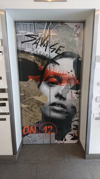 Lift wrap, elevator wrap, advertising wrap