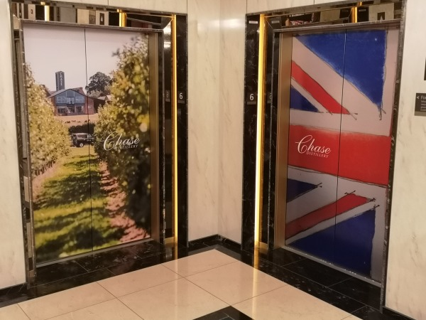 Lift wraps, elevator wrap, advertising wrap