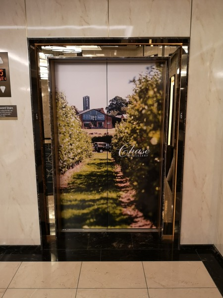 Lift wrap elevator wrap advertising wrap