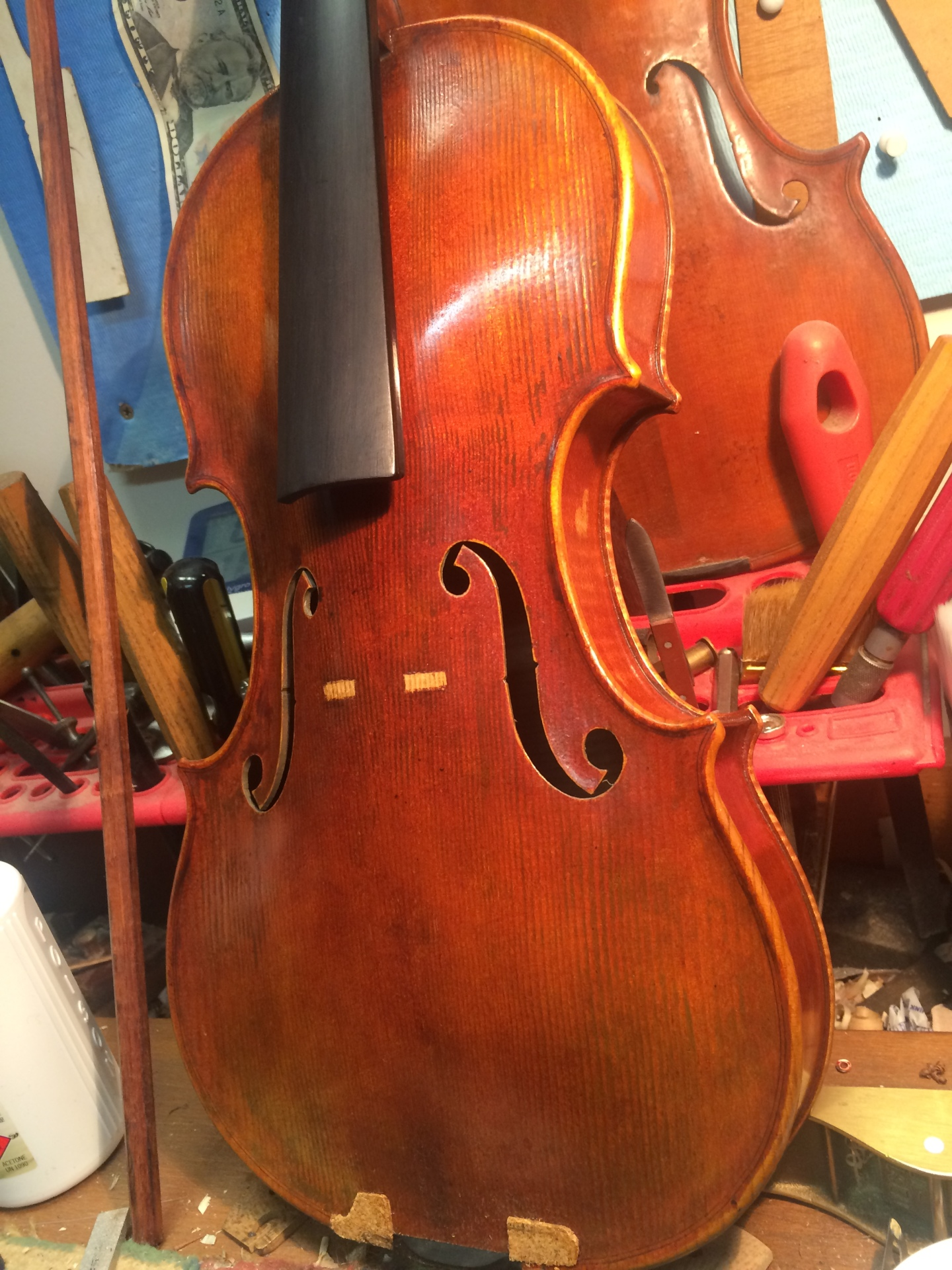 Violin made by JW Robinson #216 (sans bridge)
