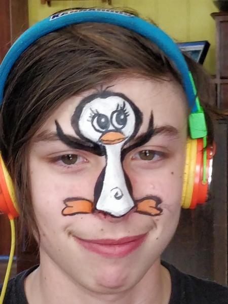 Penguin facepaint