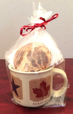 Coffee Mug with 3 or 6 cookies