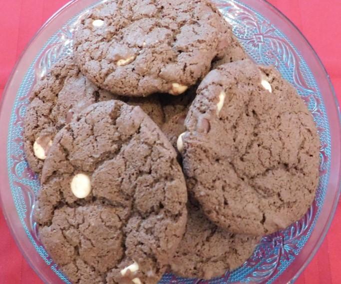 Brownie White Chocolate Chip Cookies