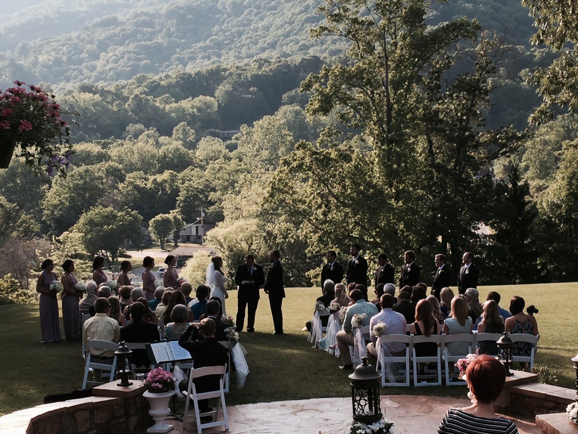 Enjoy an outdoor ceremony with your friends and family