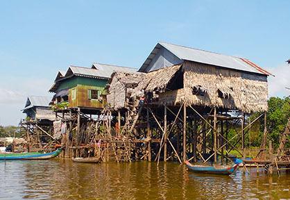 Kampong Phluk Stilt Houses