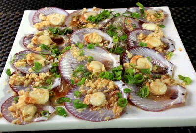 Steamed Scallops with Sotanghon