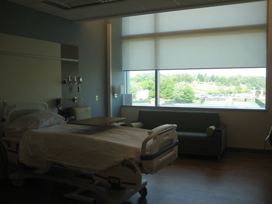 Duke Cancer patient room