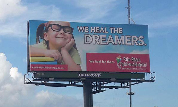Palm Beach Children's Hospital Billboard
