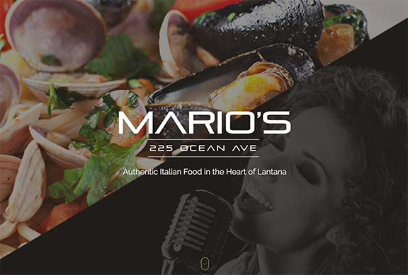 Mario's Ocean Ave Website Design