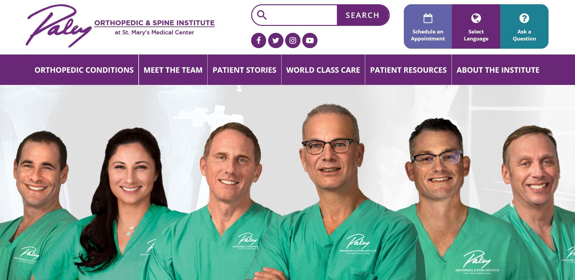 New Paley Orthopedic & Spine Institute Website