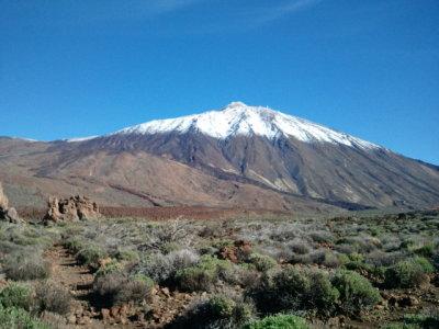 teide, tenerife, highest peak of spain, national park, snow, winter, volcano, vulcan