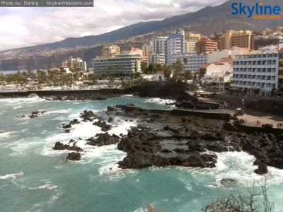 beach, tenerife, santa cruz, puerto de la cruz, webcam, web camera, online, weather