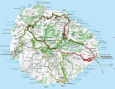 excursion, bus, coach, tenerife, la gomera, map