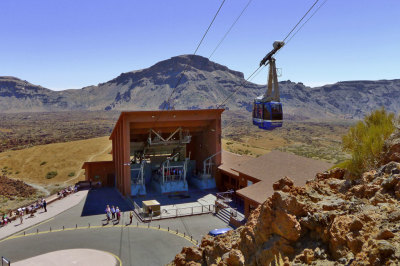 Tenerife mount teide cable car teleferico base station