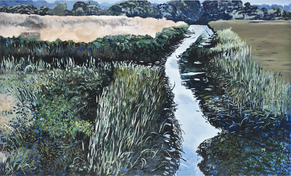 June Yokell    I   From the Bridge    l    36 x 60    l     Oil on Canvas