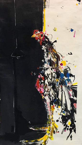 Narges Soleimanzadeh    I    Confession    I    31 x 18    I    Acrylic on Canvas    I    $2,000