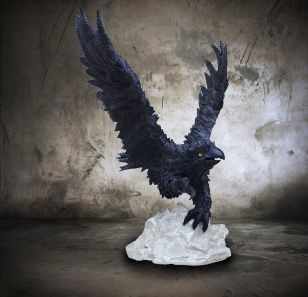 Blake McFarland    I    Treated Eagle    I     55 x 45 x 44    I    Recycled Tire Sculpture    I     $12,000