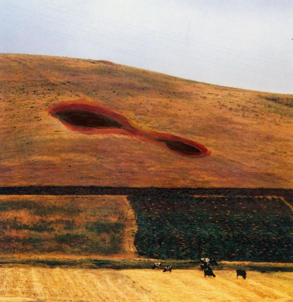 Ghader Mansoori    I    Graves    l    7 x 8    I    Painting on Photo    I    $200