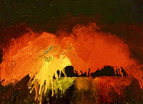 Robert Ryan    I    Melting Sun    I    Melting Sun   l   9 x 12    l    Oil and Cold Wax on Canvas    I    $260
