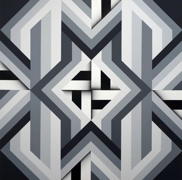 Fariba Abedin    I    Geometry #185    I    40 x 40    I    Acrylic on Canvas    I    $12,000