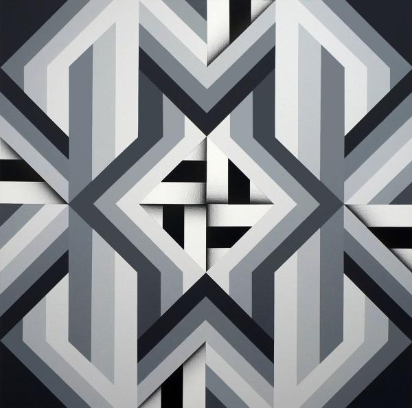 Fariba Abedin    I    Geometry #185    I    40 x 40    I    Acrylic on Canvas    I    $12,000