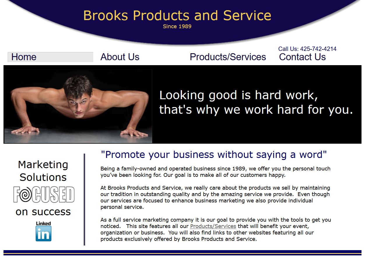 BrooksProductsandService.com