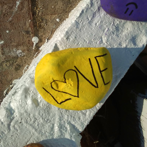 Love: Painted rock says it all