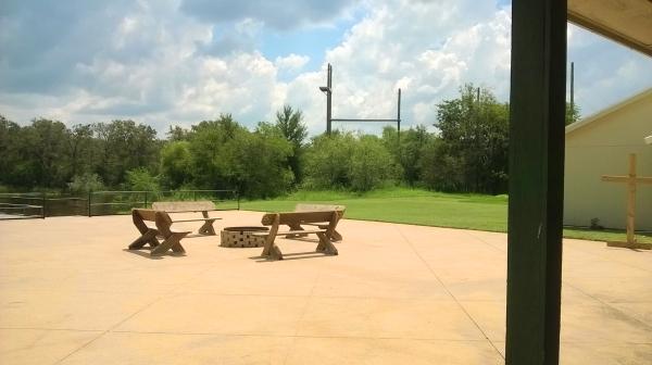 lake, benches, cross, zipline