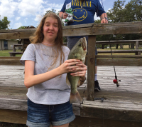 Caught a big fish in Disciple Oaks lake/pond