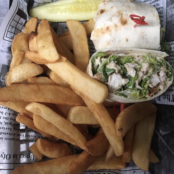 Chicken Salad and Fries