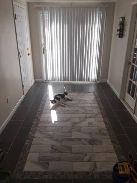 Entryway floor AFTER