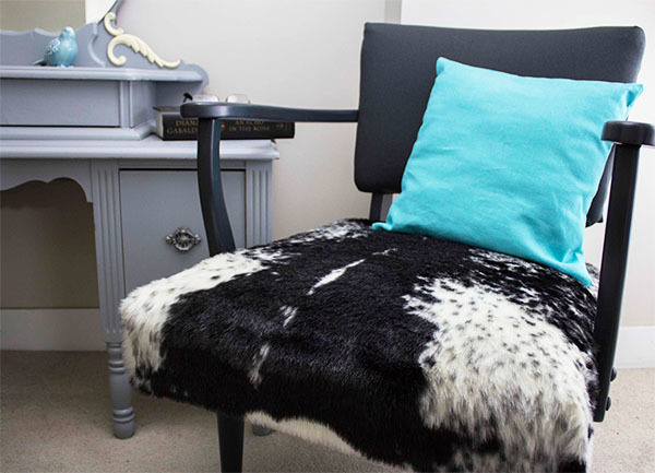 Faux Seal Skin Chair