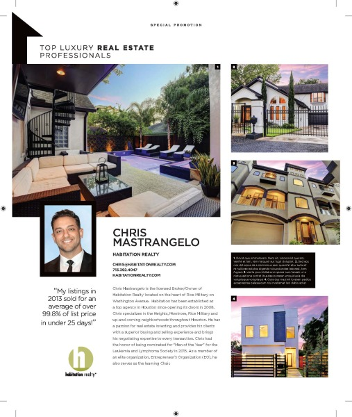 An article highlighting Habitation Realty founder, Chris Mastrangelo