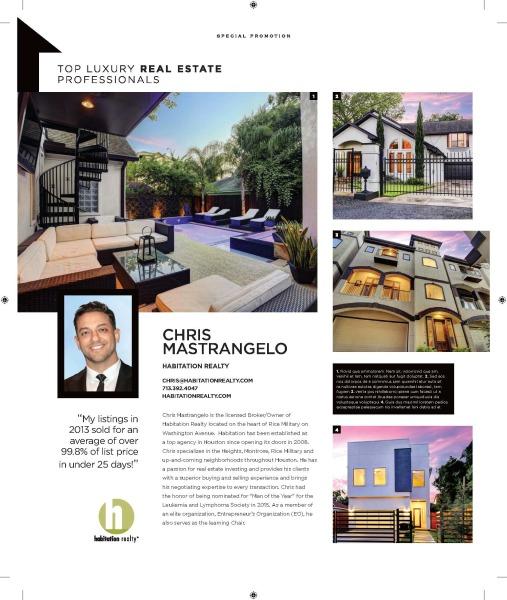 An article highlighting Habitation Realty founder, Chris Mastrangelo